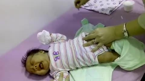 Eldest daughter's 1st immunization