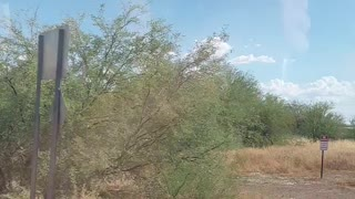 Man Follows Huge Dust Devil Into Dry Lake