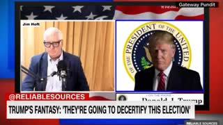 Little Brian Stelter Has MELTDOWN After President Trump Appears on Real News Gateway Pundit