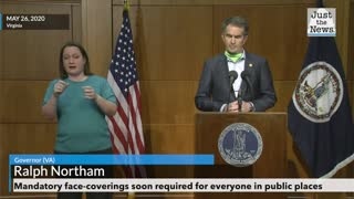 Gov. Ralph Northam Mandates Face Coverings
