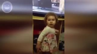 Little girl fighting with her mother