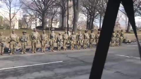 Troops Turn Their Backs on Biden