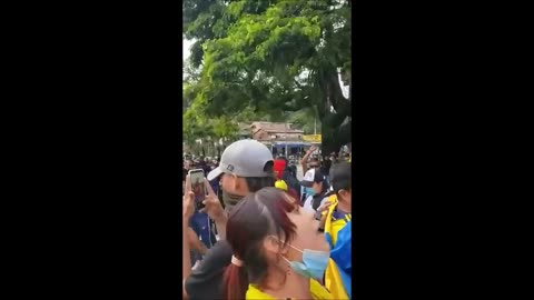 Peaceful Protest in Cali, Colombia