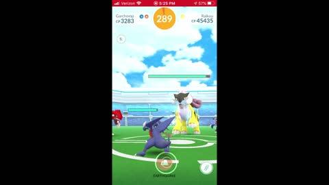 Pokemon Go - Raikou Raiding