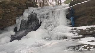 Frozen Honey Run Falls
