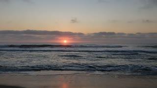 Ocean sunrise at Assateague National Seashore