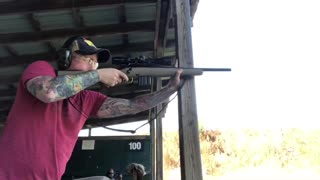 Me shooting a Ruger American Ranch 5.56