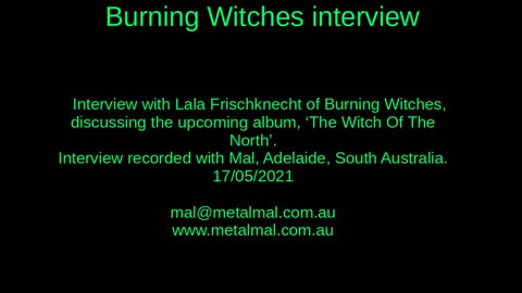 20210517 BURNING WITCHES interview