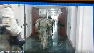National Guard troops inside the Washington DC capitol