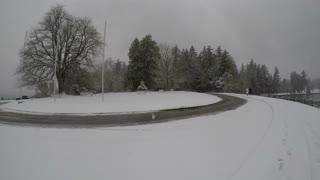 4K Snowing Stanley Park 2021-02-13