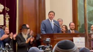 Florida Gov. Ron DeSantis Speaks At Surfside Shul