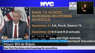 New York City delays school openings for second time