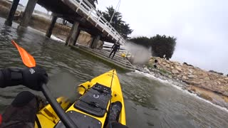 First Tumble - Stealth Fusion 480 - Not How to Land a Kayak