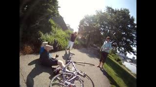 Bike crash with sound