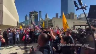 """GA - #stopthesteal protest breaks out into chants of """"CNN Sucks"""""""