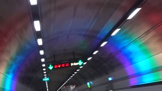 Video passing through the tunnel