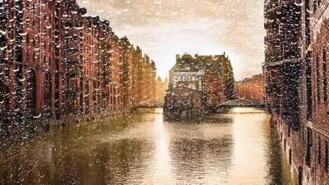 Relax Library Video 66. Hamburg in the rain