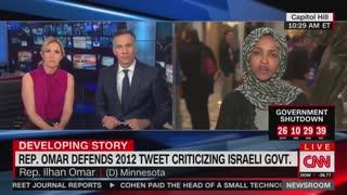 Ilamn Omar defends anti-Israel comments