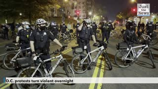 D.C. protests turn violent overnight with several police injured after firework attack