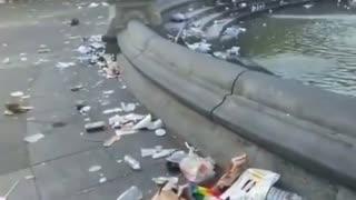 Trash Left After Pride Parade