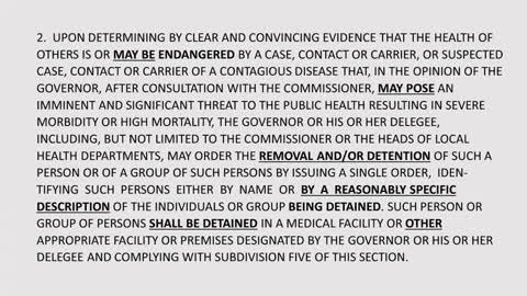 ***EMERGENCY**- NY Law Introduced to Designate & Detain Un-Vaccinated & Un-Masked as BIO-Terrorists!