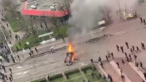 Anti-Lockdown Riots in Netherlands