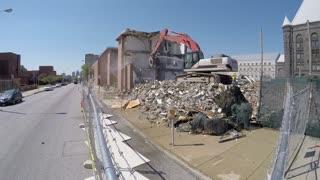 Demolition of Baltimore Building