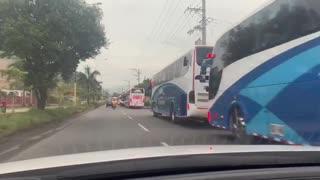 Protesta de conductores de buses intermunicipales, se espera que el tráfico quede paralizado
