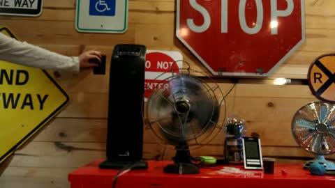 Old fan running