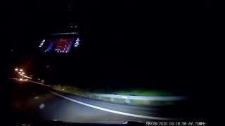 Subaru Slammed From Behind off Highway