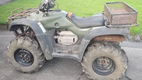 Honda 400 ATV running and rolling!!