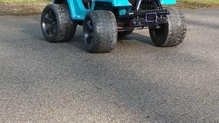 Drifter in Training Slides Power Wheel Around Street