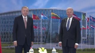 Turkish President Erdogan meets US President Biden