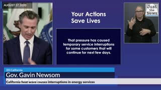 California Governor on Heat Wave Causing Service Interruptions