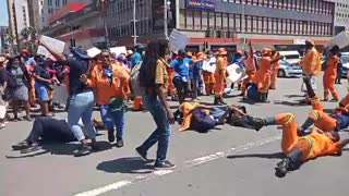 DSW workers protest in Durban CBD