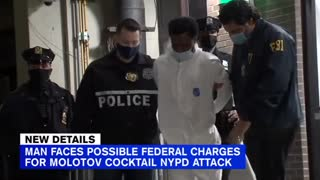 Cops attacked with chemicals, molotov cocktails