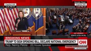Pelosi Trump Wall Emergency Reaction