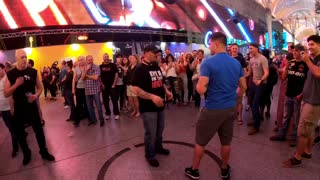 "Fremont Street Experience ""Kick Me In The Nuts"" Las Vegas"