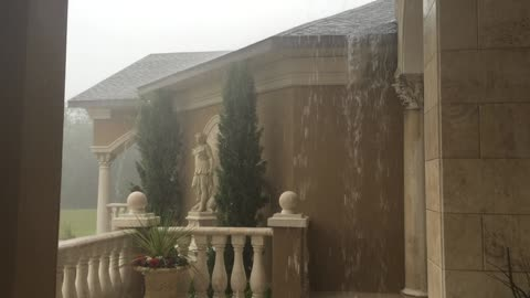 Incredible footage captures extreme rain from Tropical Storm Colin