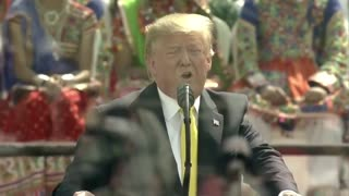 trump in india trump's usa song reaction
