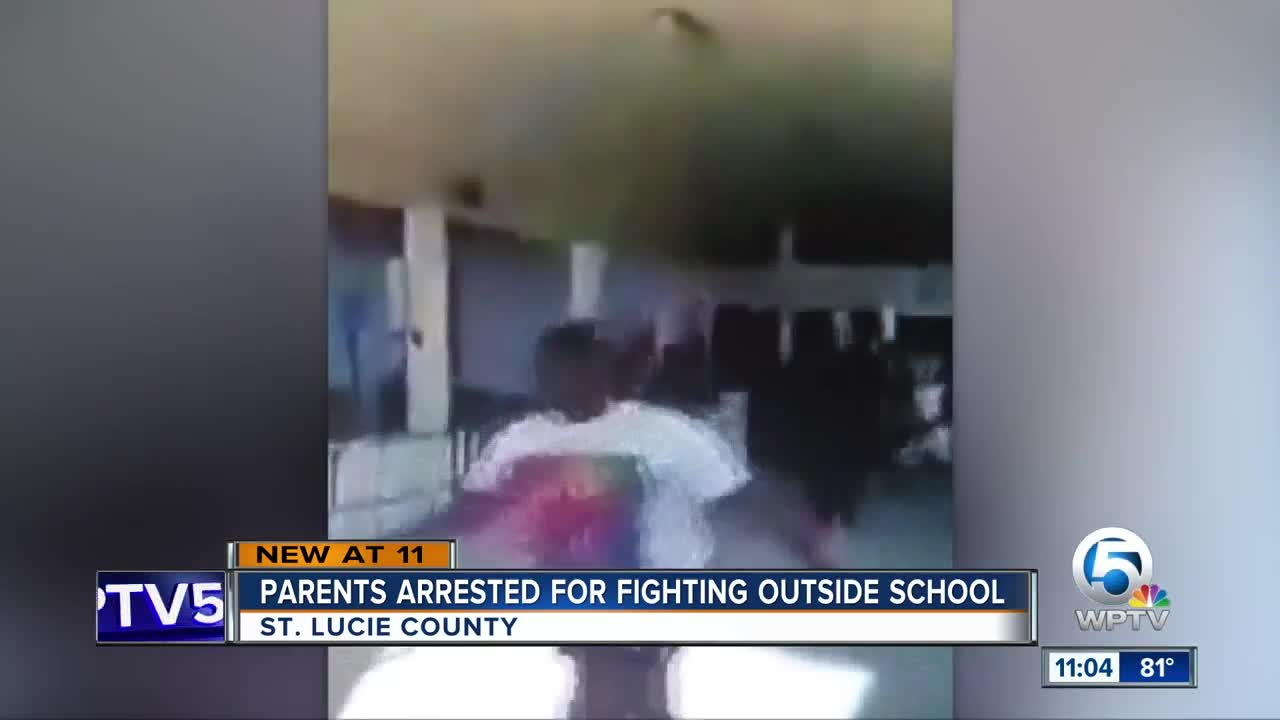 Parents arrested for fighting outside school