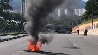 Caos vehicular en Bucaramanga y el área por protestas del Paro Nacional