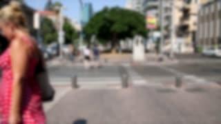 Blurry Video Of People Crossing Street