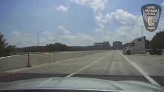 Police Dash Cam: Wild Semi Truck Chase in Ohio