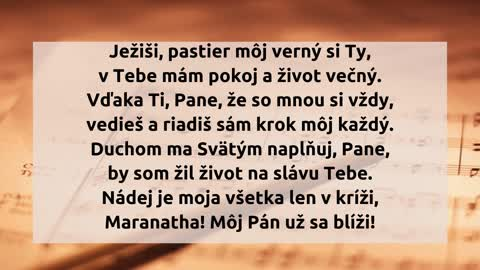 Ježiši, pastier môj
