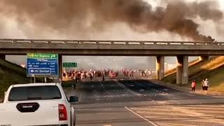 Residents protest near Hibberdene