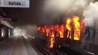 Metro protestas Chile