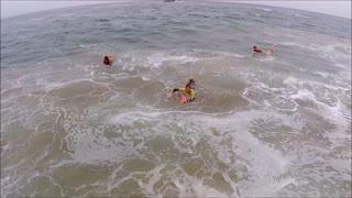 Renaca surfing beach in Chile