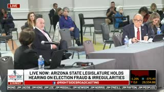 LIVE - Arizona State Legislature Holds Public Hearing on 2020 Election before lunch