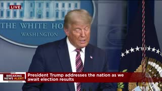 """""""We Have So Much Proof"""" - President Trump Addresses the Nation on the Election"""
